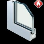 PRZECIWPOŻAROWE aluminiowe i stalowe profile aluminiowe z przegrodą termiczną MB 78 EI • profile stalowe z przegrodą termiczną • wypełnienie: szyba pojedyncza, zespolona przeciwpożarowa lub panel o odpowiedniej odporności ogniowej • rama malowana proszkowo • montaż w zabudowie indywidualnej
