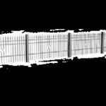 """Bok ogrodzenia składa się z segmentów z typoszeregu, ostatni element wykonany """"na wymiar"""""""